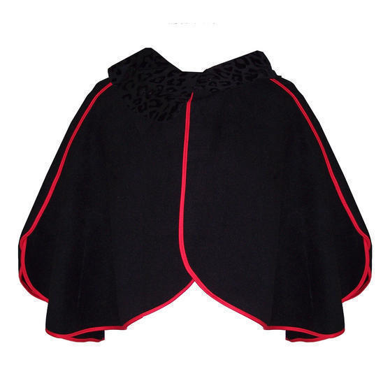 Hearts and Roses London Black 1950s Cape