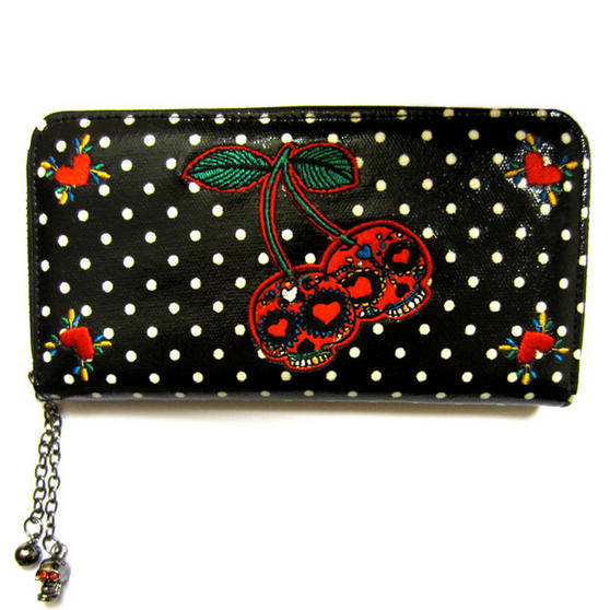 Banned Black Cherry Polka Dot Wallet