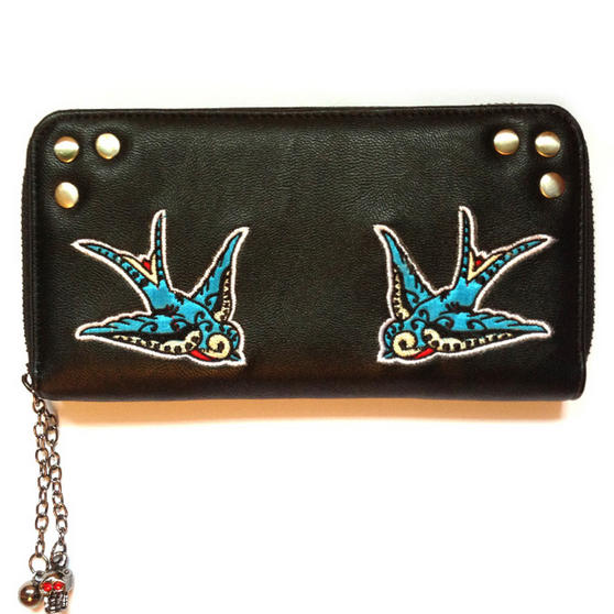 Banned Black Blue Bird Wallet
