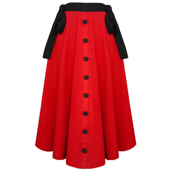 Banned Red Midi Skirt