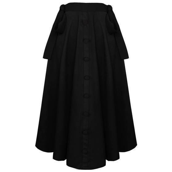 Banned Black Midi Skirt