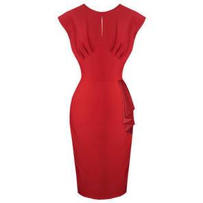 Hell Bunny Bernadette Red Pencil Dress