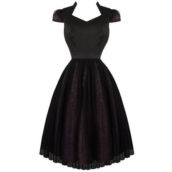 Hearts & Roses London Black Purple Dark Fairytale Party Prom Dress UK