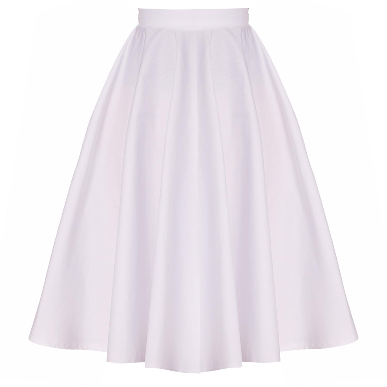 Hell Bunny Paula White Midi Skirt | Hell Bunny