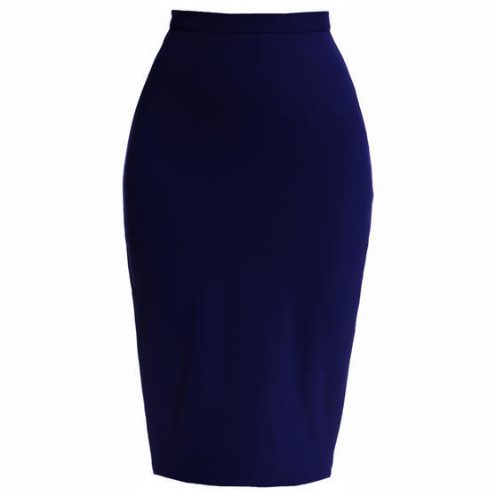 Hell Bunny Joni Navy Pencil Skirt