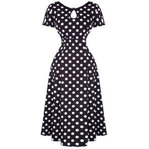 Banned Black Polka Dot 1940s Dress