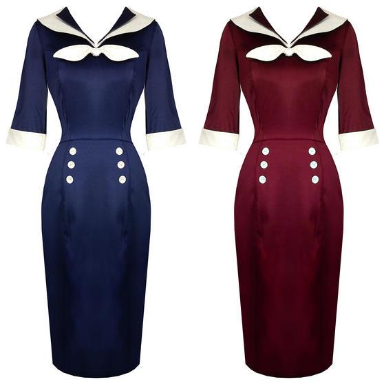 Hell Bunny Sandra Dee Nautical Dress