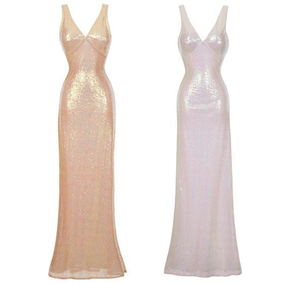 Boutique Full Length Sequin 1930s Dress