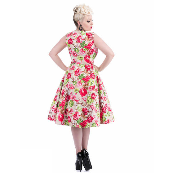 Hearts & Roses London Cream Floral Vintage Retro 1950s ...