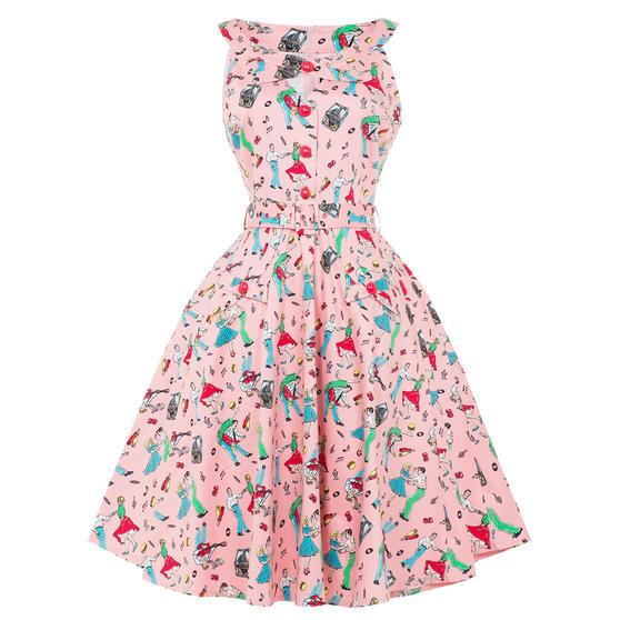 Voodoo Vixen Rock N Roll 1950s Dress