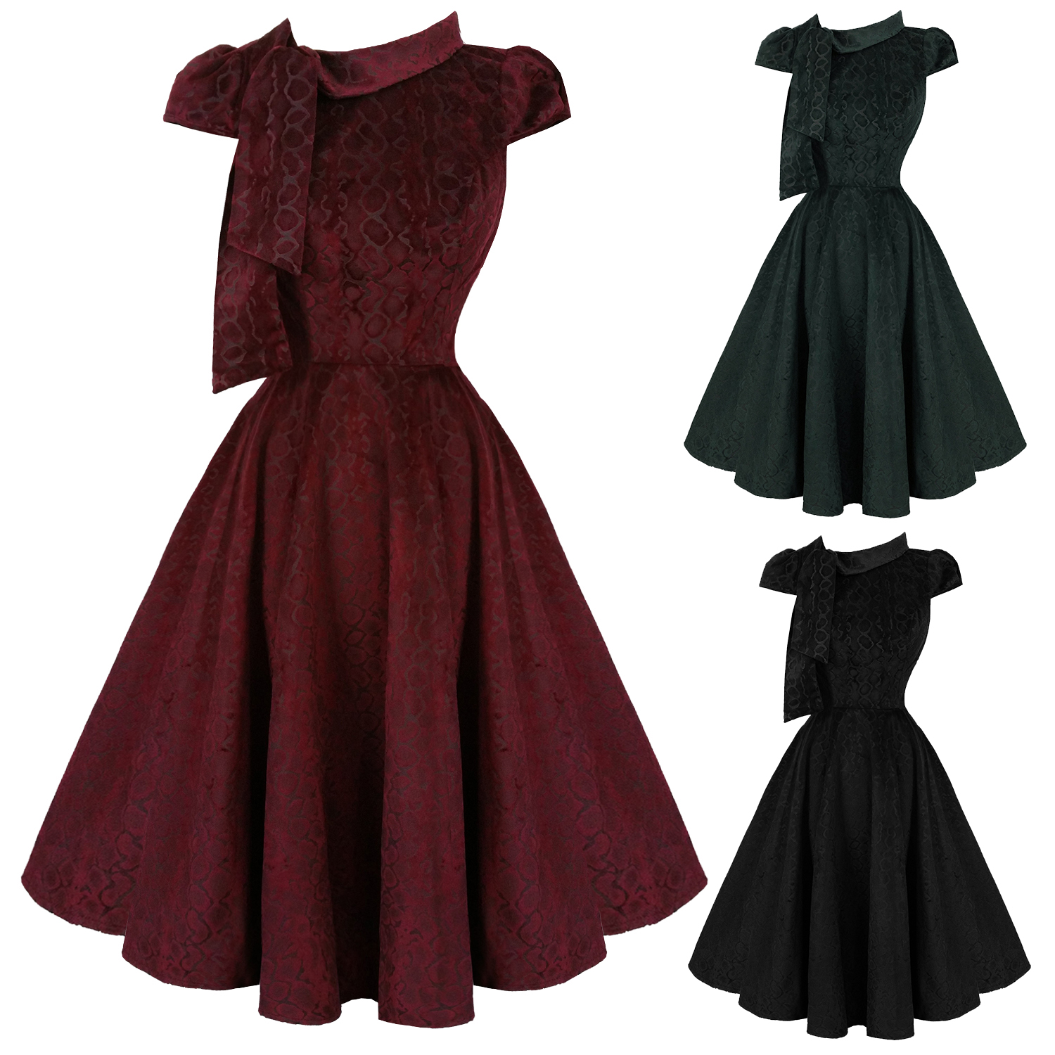 e1b715142b3f Hearts and Roses London Velvet Leopard 1950s Dress | Dresses | Starlet  Vintage