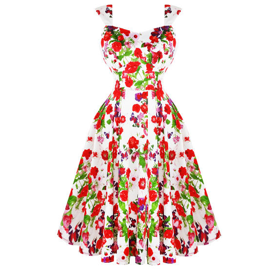 Hearts and Roses London Red Roses Dress