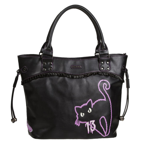 Banned Nine Lives Cat Handbag