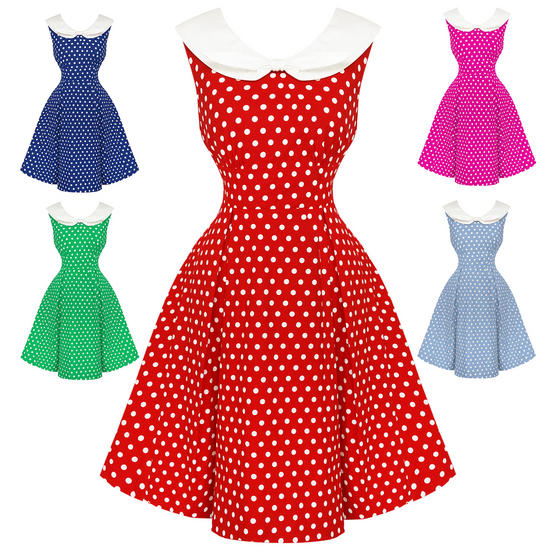 Dolly & Dotty Sally Polka Dot 1950s Dress