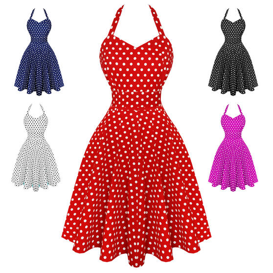 Dolly & Dotty Penny Polka Dot 1950s Dress