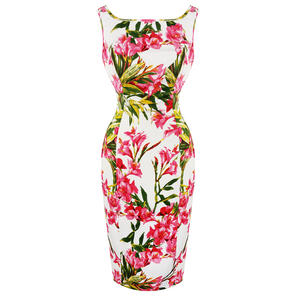 Hearts and Roses London Exotic Pink Pencil Dress