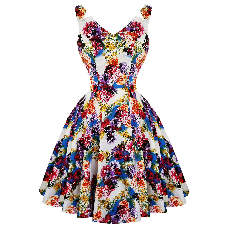 Hearts & Roses London Floral Princess 1950s Dress