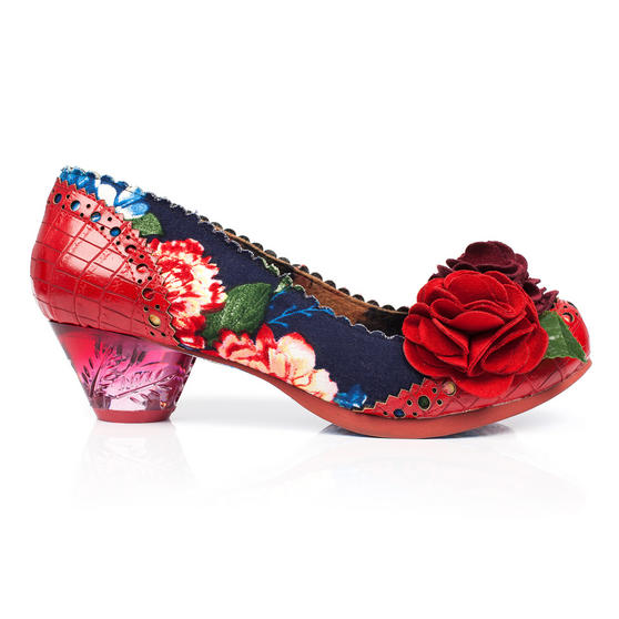 Irregular Choice Fantastic Low Red Shoes