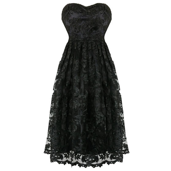 Hearts & Roses London Black Lace Dress