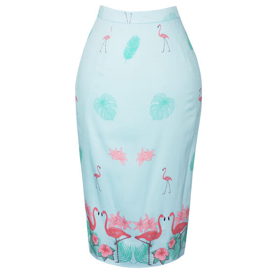 Dancing Days Going My Way Flamingo Pencil Skirt