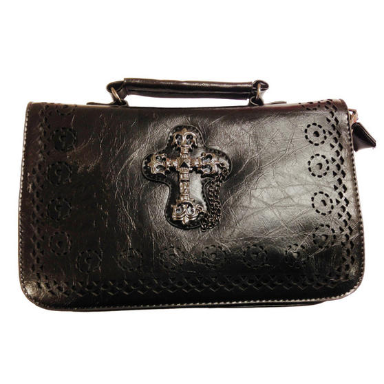 Banned Gothic Cross Handbag