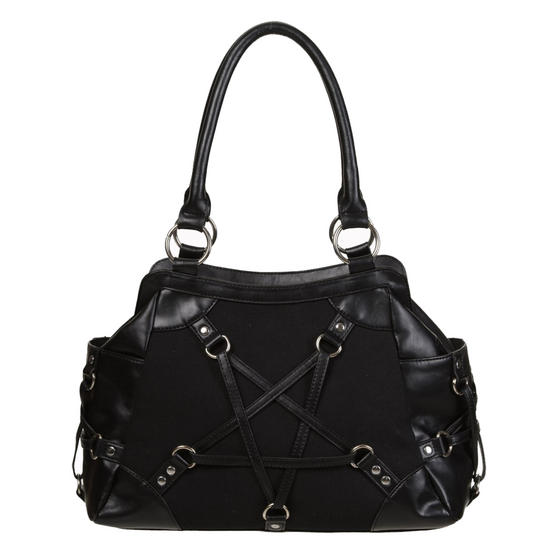 Banned Stand Still Black Gothic Handbag
