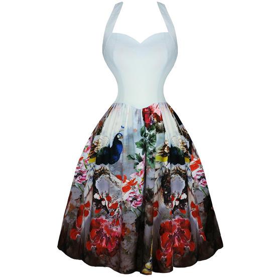 Hearts & Roses London Peacock 1950s Dress