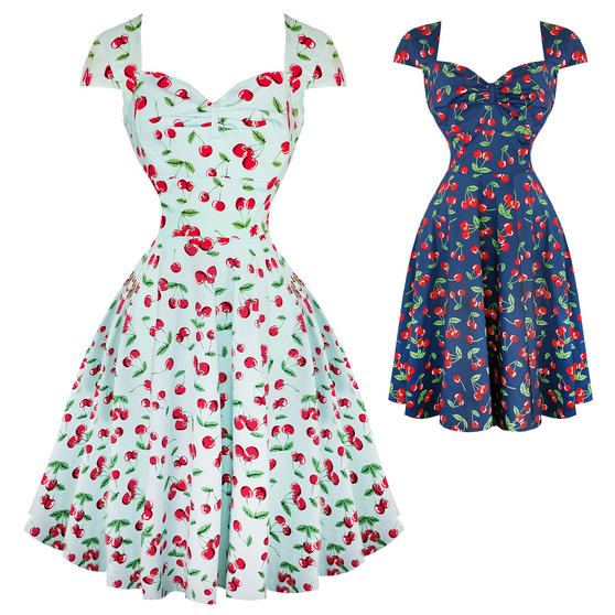 Hell Bunny April Cherry 1950s Dress