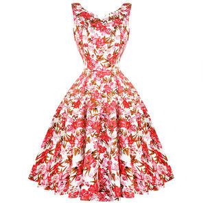 Hearts & Roses London Pink Lilly 1950s Dress