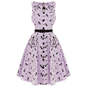 Voodoo Vixen Kitty Cat 1950s Dress