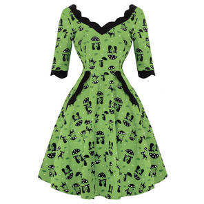 Voodoo Vixen Katnis Cat 1950s Dress