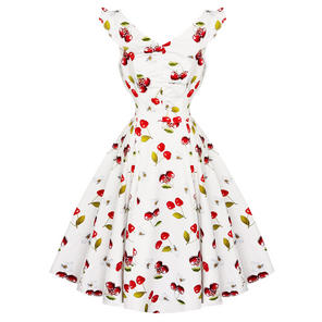 Hearts and Roses London Floral Cherry 1950s Dress