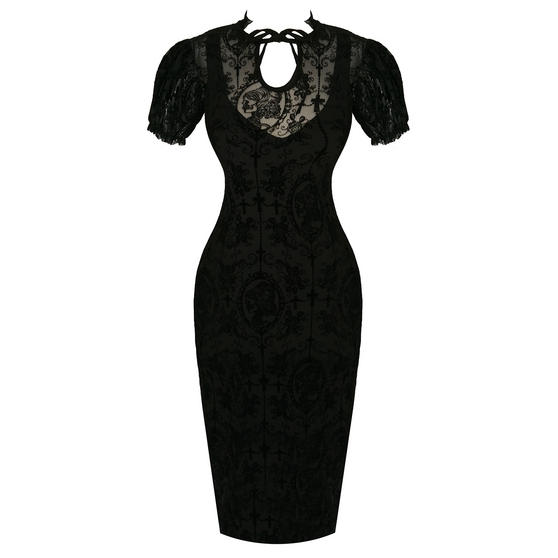 Banned Gothic Cameo Pencil Dress