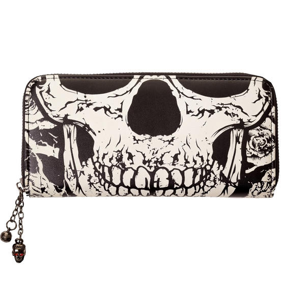 Banned Glow in the Dark Skull Wallet