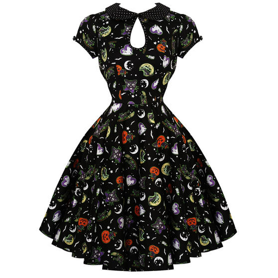 Hell Bunny Salem 1950s Dress