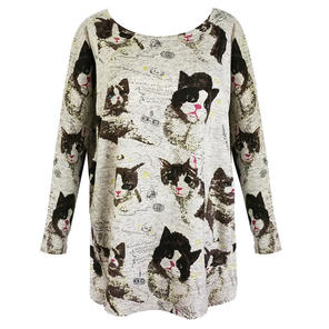 Purplish Cats Slouch Top