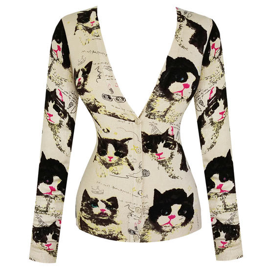 Purplish London Cute Cat Cardigan