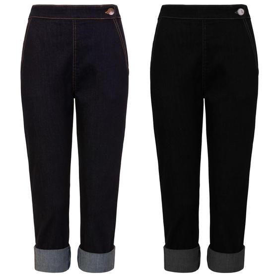 Hell Bunny Charlie Capri Jeans