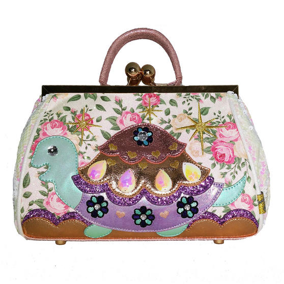 Irregular Choice Jus Sayin White Tortoise Handbag