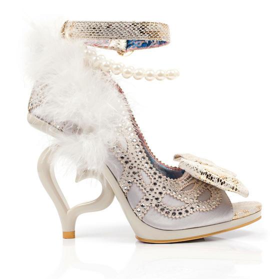 Irregular Choice Tingle Tastic White Shoes