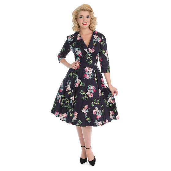 Hearts & Roses London Mysterious Purple 1950s Dress
