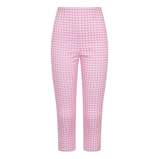 Hell Bunny Judy Pink Gingham Trousers