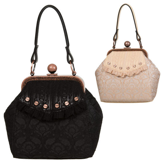 Banned Free Hearts Gothic Handbag