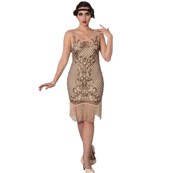 Dancing Days Nude 1920s Dress