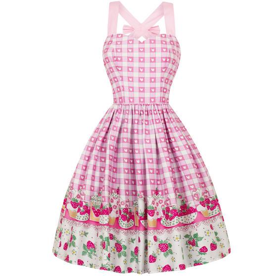 Hell Bunny Strawberry Shortcake 1950s Dress