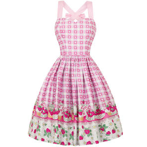 Hell Bunny Strawberry Shortcake 1950s Dress
