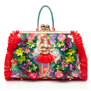 Irregular Choice Do The Hula Tropical Floral Hawaii Designer Collectable Handbag