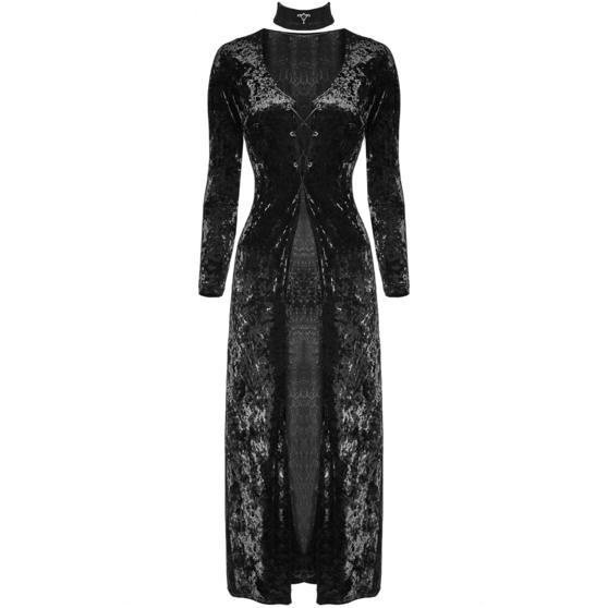 Punk Rave Long Black Velvet Dress