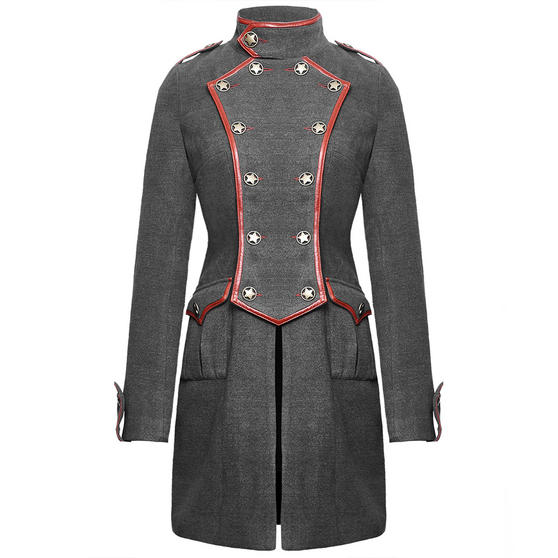 Punk Rave Grey Military Coat