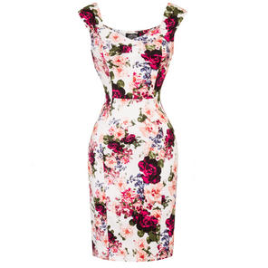 Hearts & Roses London Vintage Rose Pencil Dress